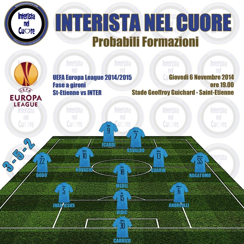 Probabili Formazioni 2014-11-04 - Saint Etienne vs INTER
