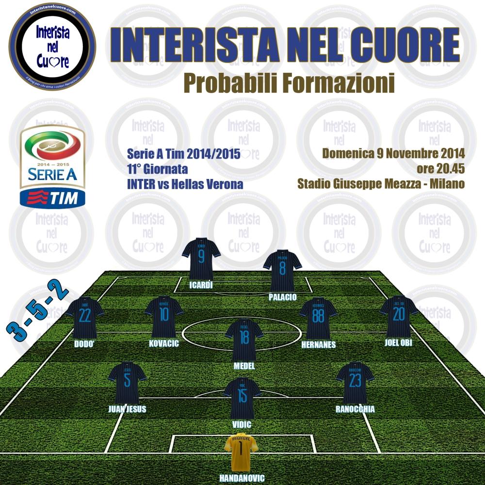 Probabili Formazioni 2014-11-09 - INTER vs Hellas Verona