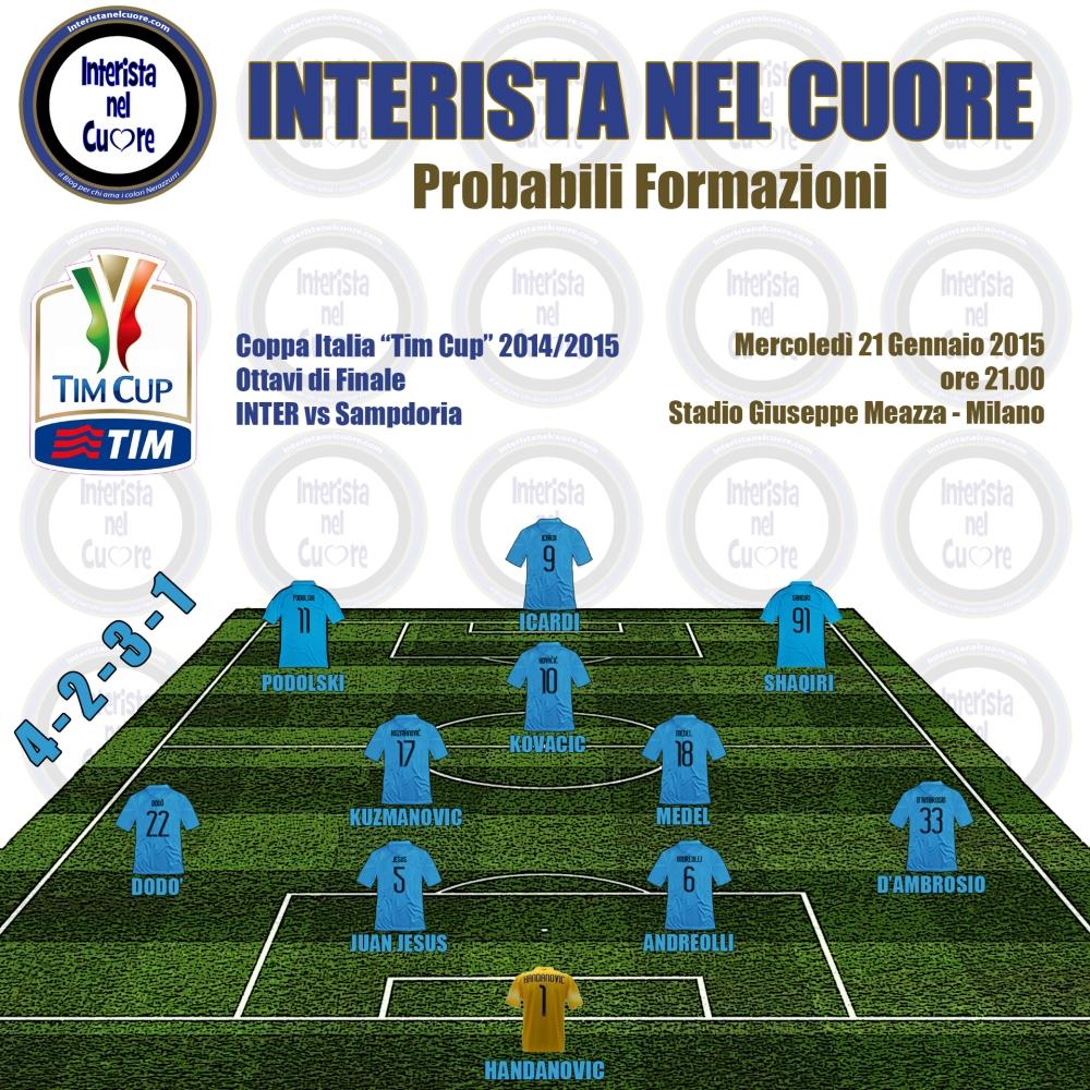 Probabili Formazioni 2015-01-21 - INTER vs Sampdoria