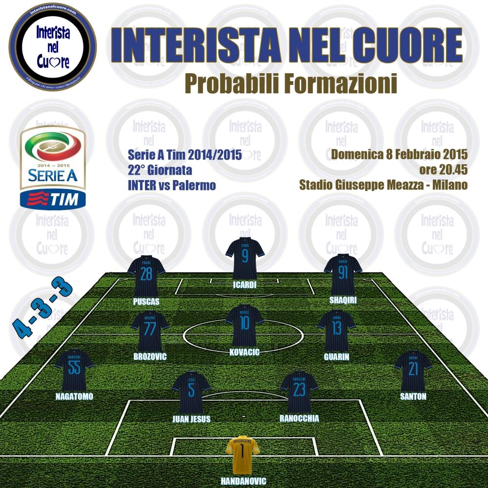 Probabili Formazioni 2015-02-07 - INTER vs Palermo