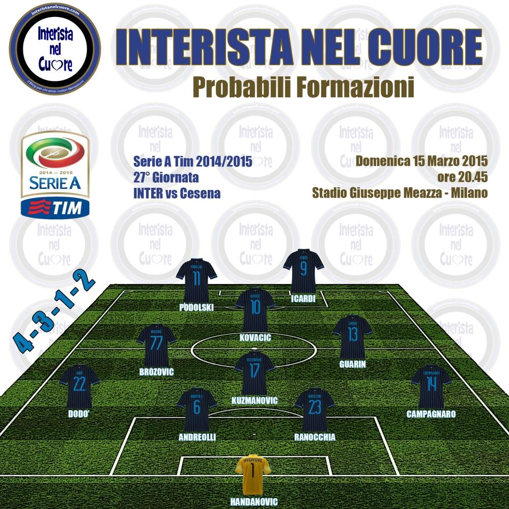 Probabili Formazioni 2015-03-15 - INTER vs Cesena