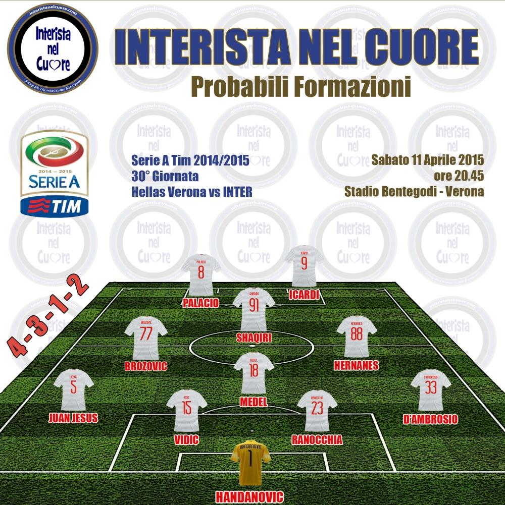 Probabili Formazioni 2015-04-11 - Hellas Verona vs INTER